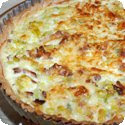 Quiche Lorraine (Gruyère cheese and bacon tart from East of France - Lorraine)