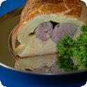 Saucisson en brioche (Sausage baked in a brioche dough)