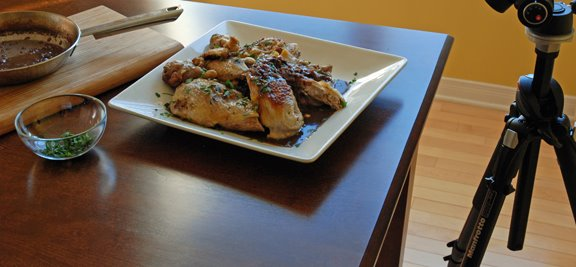 Pintade  la Cvenole (Guinea Hen with Mushrooms and Chestnuts)