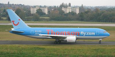 Saturday 27 October 2007 - Thomson Boeing 767 G-BYAA operates final