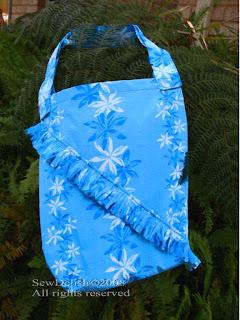 Make Beach tote bag with Zippered Pocket