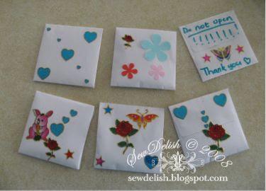 birthday party craft draw sachets drawer make
