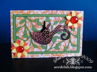 Exotic Orange Cricut Card