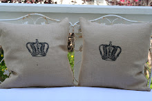 Kings Crown Design Burlap pillows