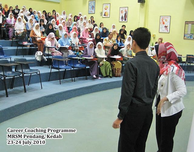 career coaching programme   mrsm pendang  bahagian kedua