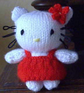 modele tricot hello kitty doudou
