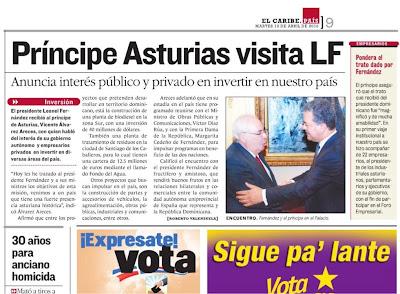 diariu EL CARIBE de la República Dominicana 13/04/2010