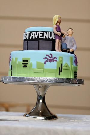 [Lindsay+&+Dustin's+cake]