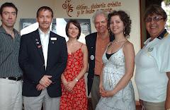 Representación de Canada y USA de la organización Rotary International en su visita a Barquisimeto