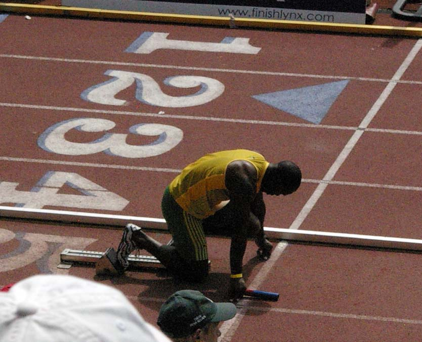 Usain Bolt at the 2010 Penn Relays