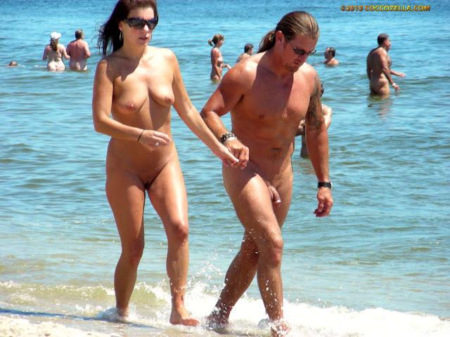 Nude beach activity