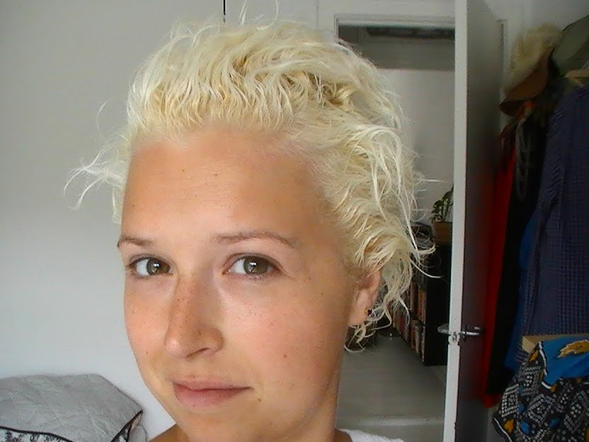 Yellow Bleached Hair