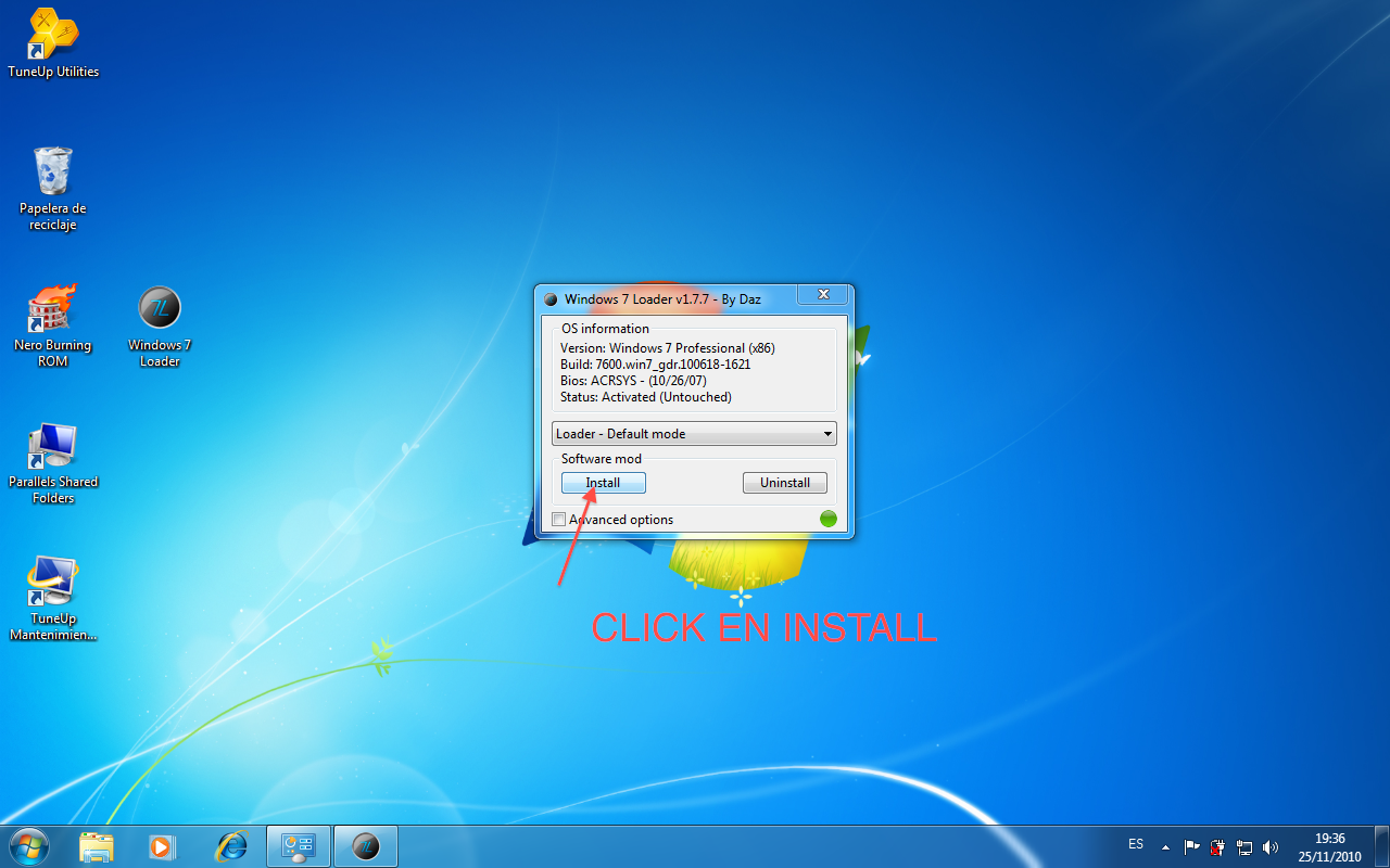 Windows 7 loader original