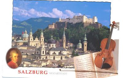 Mozart Salzburg'da - heryerde..!