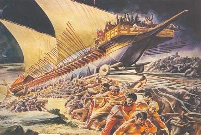 Karadan yürütüldü Fetih'te gemiler...
