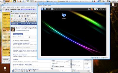 Pardus 2009 Beta ekran görüntüsü - enstantane