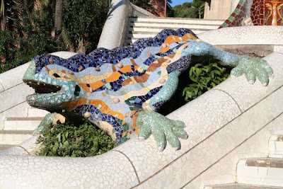 Parc Guell'deki İguana