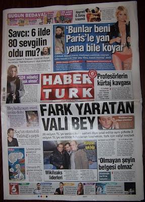 5 ARALIK 2010 HABERTÜRK GZT. ANA SAYFASI