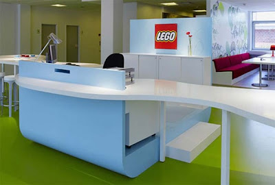 Modern Office Interior Designed by LEGO