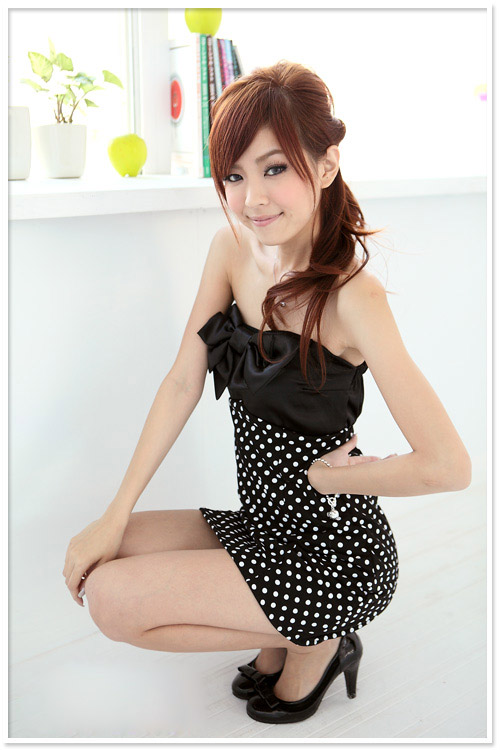 Black Dot Dress From Japan
