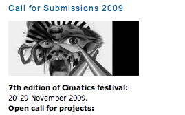 Cimatics\09\Festival - Call for Works