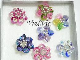 Flores swarovski Vi&Vic en plata