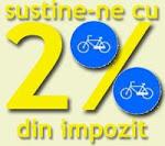 2% pentru bicicleta...