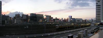 名古屋駅の夕日