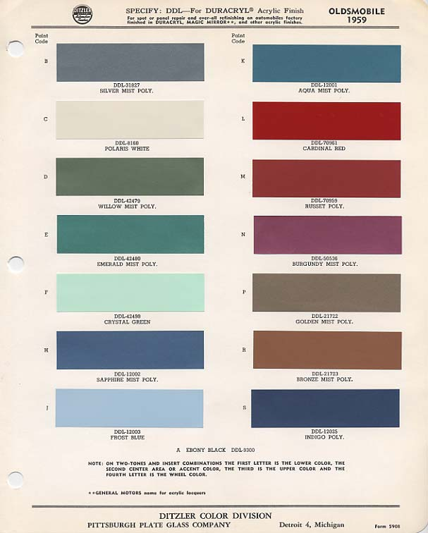 1958 Oldsmobile Colors Related Keywords Amp Suggestions
