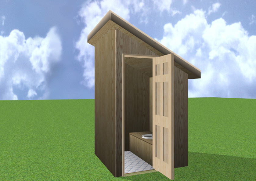 Outhouse located at the historic on basic outhouse plans