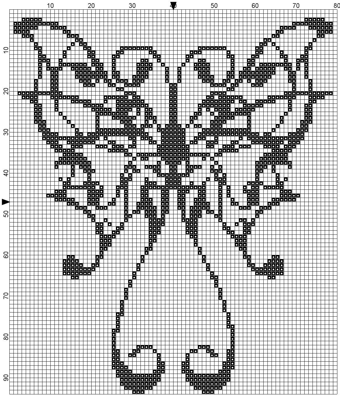 Farfalle sylvia 39 s stitch schemi punto croce for Farfalle a punto croce
