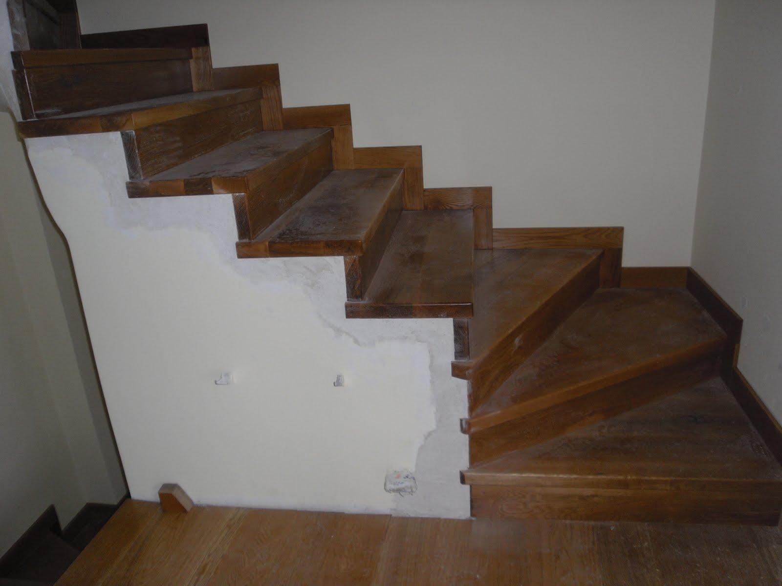 El carpintero escaleras de madera - Madera para peldanos de escalera ...