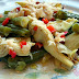 Artichoke & Green Beans with Hot Bacon Vinaigrette