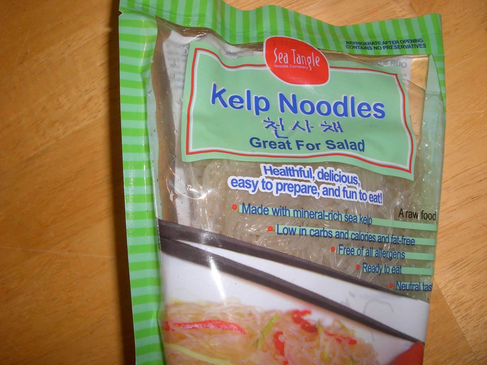 Harmonic Foods: Kelp Noodles with Peanut Sauce and Veggies