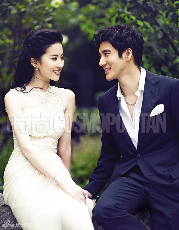 Love in disguise s director actor wang leehom and costar liu yifei are