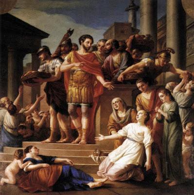 Marcus Aurelius Distributing Bread Joseph-Marie Vien