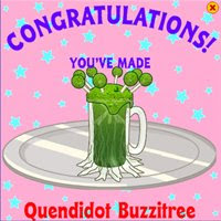 quendidot buzzitree webkinz recipes
