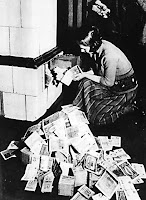 Burning paper money cheaper than buying fuel in 1923