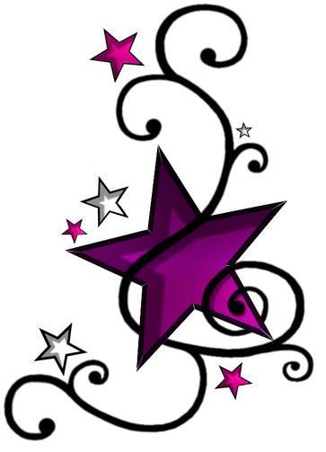 ... -Tattoo-Sticker-Waterproof-HHAA065-Five-pointed-star-/260958819779