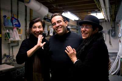 Mera Rubell, Lenny Campello and Lisa Gold