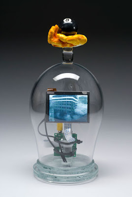 My Love Life Thus Far, Blown & Cast Glass,electronics, original video - by Tim Tate