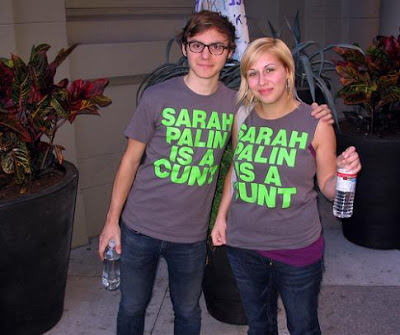 Sarah Palin protesters in Philly, source unknown