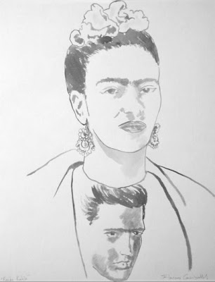 Frida Kahlo Wearing an Elvis T-Shirt