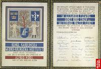 Certificado de premio Nobel a un famoso investigador médico