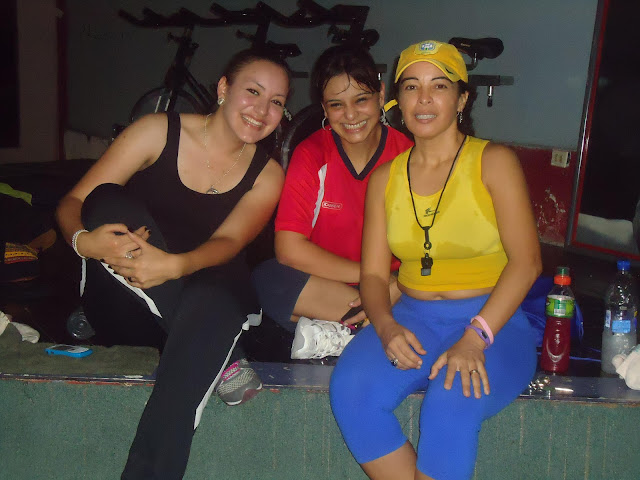 Nheylin Ung, Delmy Mejía, Diana aeróbicos