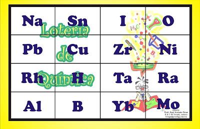 lotera de los smbolos de los elementos qumicos excelente material didctico para qumica solo bajalo imprmelo de preferencia en papel opalina o - Tabla Periodica En Memorama