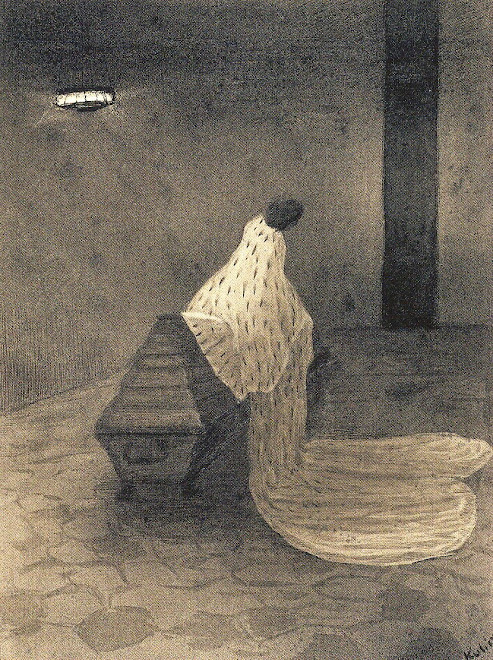 """IN MEMORY OF MY BRIDE WHO DIED IN 1903"" : ALFRED KUBIN!"