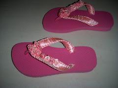 Sandalias Havaianas Infatil, Customizadas