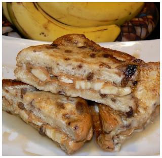 Sandwichs de pain doré aux bananes P1420327