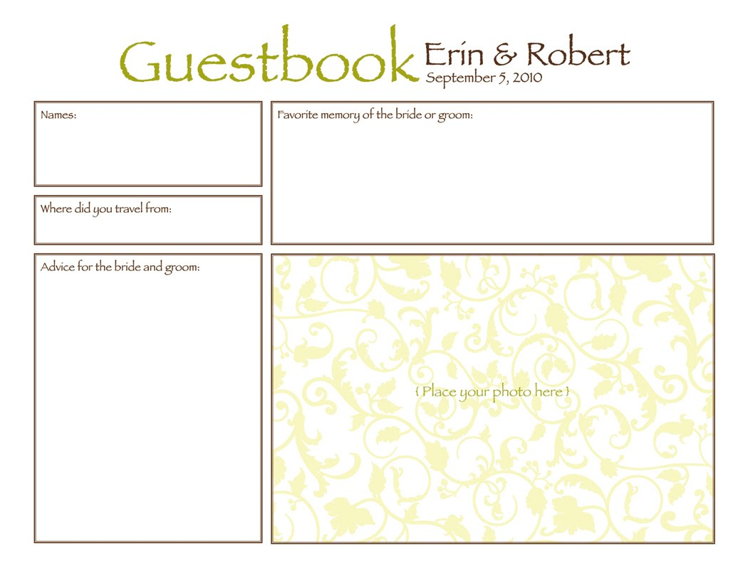 guestbook pages